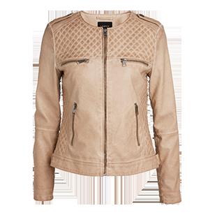 Béžová kožená bunda patří mezi nejžádanější, Lindex 1 499 kČ