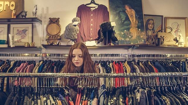 oblečení v second handu